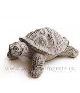 Kameninová záhradna korytnačka siva patina 21cm