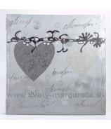Obraz na plátne polychrom Dve srdcia 50x50 cm