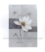 Obraz na plátne polychrom Mak fialový 50x50 cm