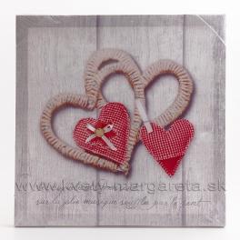 Obraz na plátne koláž Dve srdcia obrys 40x40cm - zľava 40%