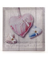 Obraz na plátne koláž Dve srdcia obrys 40x40cm