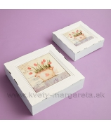 Vintage krabičky s kachličkou sada 2 ks Romantic Rose