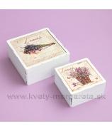 Vintage krabičky s kachličkou sada 2 ks Lavender