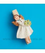 Štipec dievčatko anjelik s kvetom