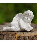 Anjelik Amor s knižkou a krížikom biely