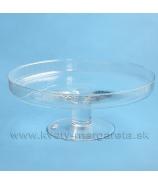 Váza sklenená Valec na nožke 16cm