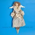 Anjelik bábika Dolly v béžovom kožúšku  s kožušinkou - 50%