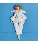Anjelik bábika Dolly v béžovom kožúšku  s kožušinkou