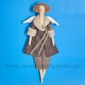 Anjelik bábika Dolly v hnedom kabátiku s čipkou - 50%