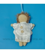 Závesný anjelik zlatovlások 14cm