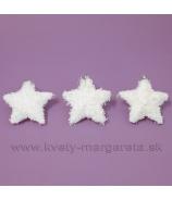 Hviezdičky Polar 3 kusy 12cm biele
