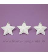 Hviezdičky Rafaelo 3 kusy 12cm biele