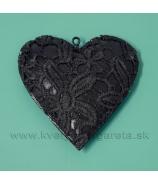 Srdce Black s šipkou 9cm