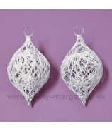 Cibuľky ovíjané s glitrovým vláknom 2 kusy biele