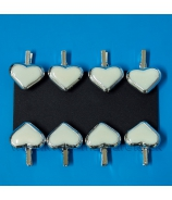 Štipec srdce perleť x 12 kusov