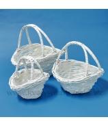 Darčekové koše Karkulka biele 3 kusy
