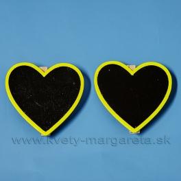Cedulka stieracia srdce na štipci sada 2 kusy