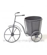 Trojkolka vozíček s vedierkom na kvet 21cm