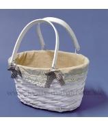 Košík kabelka s rúčkami sivý 32cm