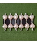 Perleťové srdiečko na štipčeku 2cm rúžové 12 kusov