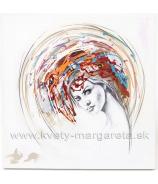Obraz DIVA olej na plátne 60x60 cm