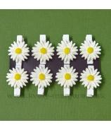 Štipec kvety Margaréta sada 8 kusov