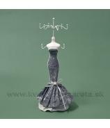 Stojan na šperky CARMEN 35cm hnedo-biely