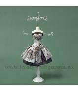 Stojan na šperky Marylin 40cm sivo-biely