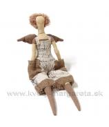 Anjelik bábika DOLY na posadenie kapsové nohavice hnedá