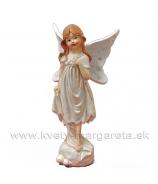 Dievčatko motýlik stojace s košíkom, zlatý glitter