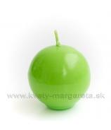 Sviečka guľka 6cm - lakovaná zelená