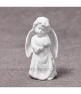 Anjelik so srdcom porcelánový 10cm