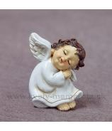 Magnet anjelik spinkajúci biely 6cm