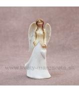 Anjel copatý so závesným srdcom v ruke 16cm