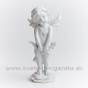 Anjel Amor s lukom stojaci biely 16cm - zľava 50%