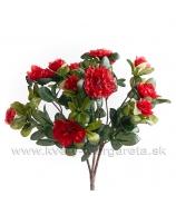 Kytička šípových ruží červené a biele 29cm