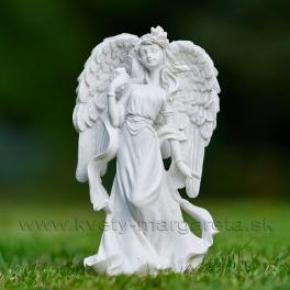 Anjel Archanjel s ružou 13cm