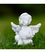 Anjel Amor ležiaci v tráve s perličkou 8cm