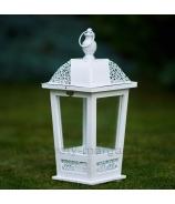 Lampáš záhradná LUCERNA s guľkami sivá Antique patina 43 cm