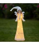 Dievčatko anjelik vo svietiacich šatách 110 cm