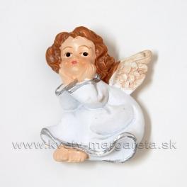Anjelik s hlavou v dlaniach magnetka 4.5 cm