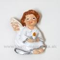 Anjelik sediaci so sviečkou magnetka 4.5 cm