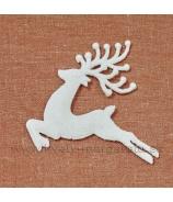 Jeleň skákajúci glitrovaný zlatý 13cm sada 4 kusy