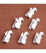 Snehuliak plechový na štipci 5cm balenie 6 kusov
