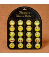 Smajlik magnetka mix 5 typov na plechovej tabuli 20 kusov