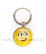 Smajlík prívesok na kľúče úsmev 7cm