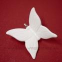 Motýľ na štipci porcelánový 5cm biely