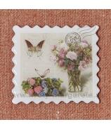 Magnet poštová známka LOVE Ruže vo vedierku 5cm