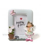 Dievčatko Anjelik s kvetom a lienkou 12cm