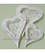 Sada nádob v tvare srdca biele 3 kusy